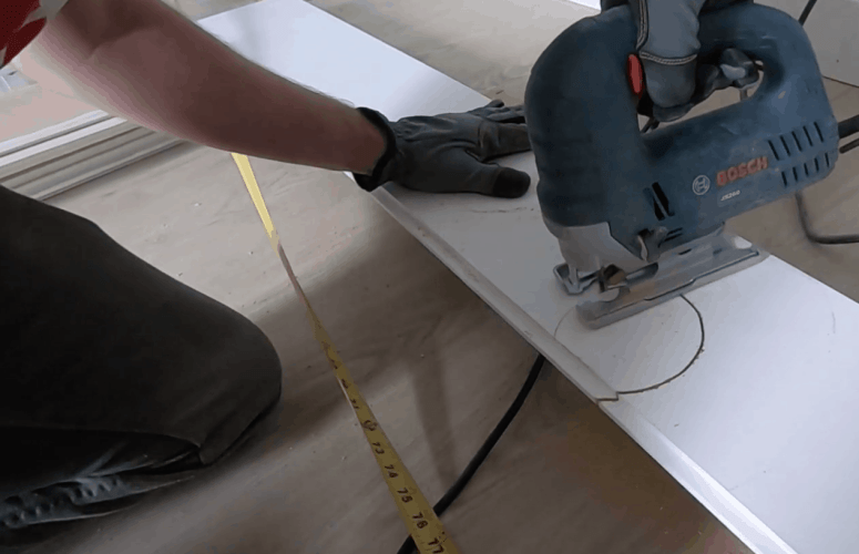 How to Install a Shiplap Ceiling - at home with Ashley