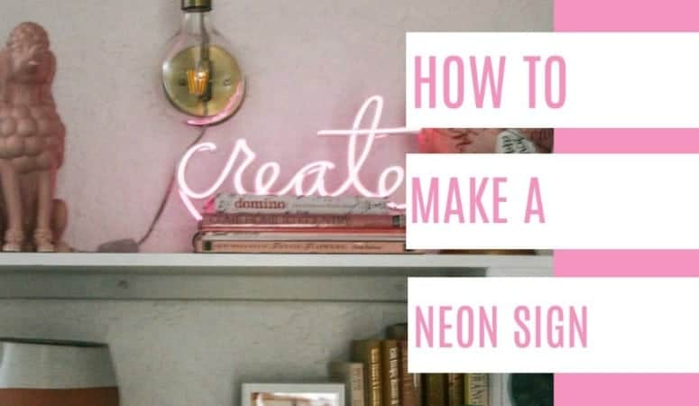 diy neon light sign. how to make neon wall art with el wire- perfect for words or a symbol like a heart, I have Ideas for 2 projects with video tutorials for both. The lights go through the canvas for a fun project!