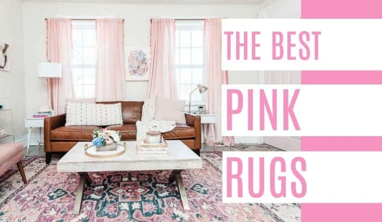 The Best Pink Rugs - at home with Ashley