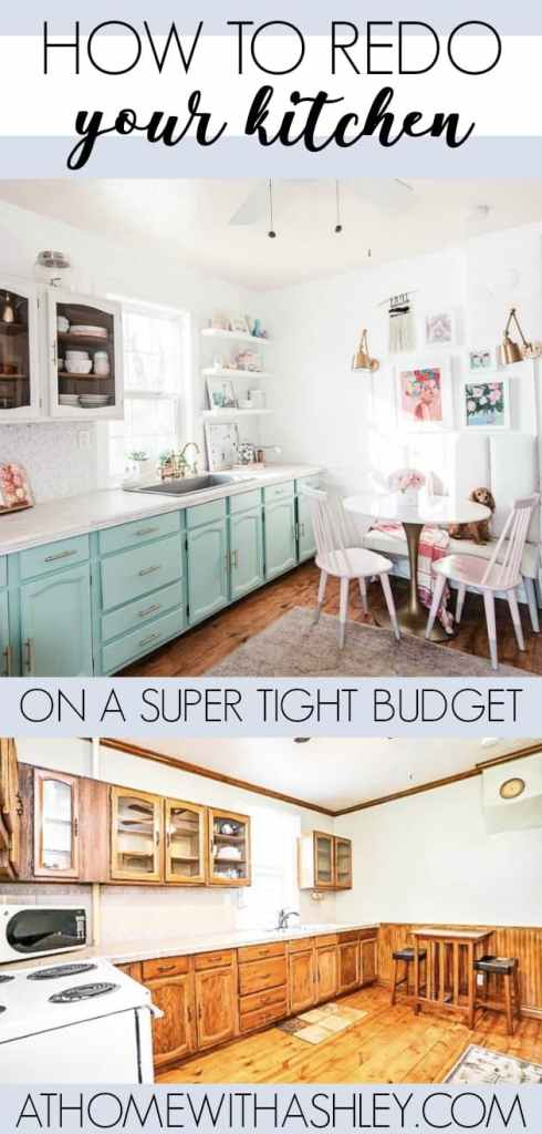 Kitchen Remodel on a Budget - at home with Ashley