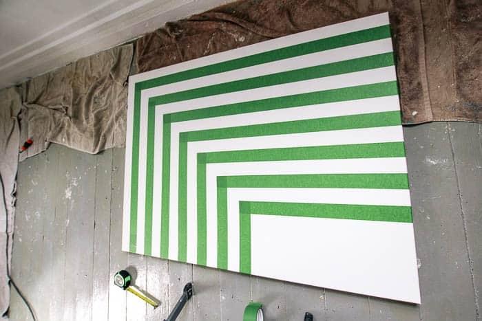 DIY Color Block Rainbow Wall Art - at home with Ashley