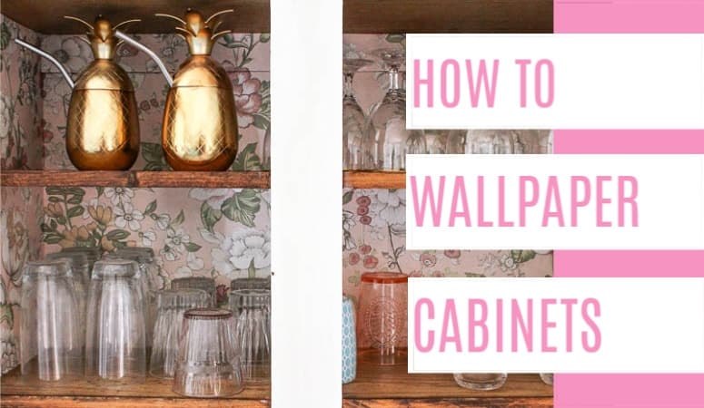 How to Wallpaper Cabinets