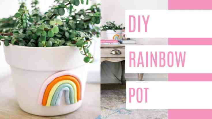 DIY Rainbow Pot