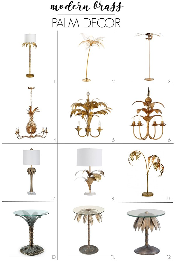 I got tons of ideas for tropical decor from my trip to Florida! So, I rounded up my favorite modern palm and seashell decor for inspiration for my next project. I love gold, modern beach decor. If you're looking for interior design ideas, you'll love #3. It would be so cute in my dining room! #shelldecor #palmdecor #tropicaldecor #modernshelldecor
