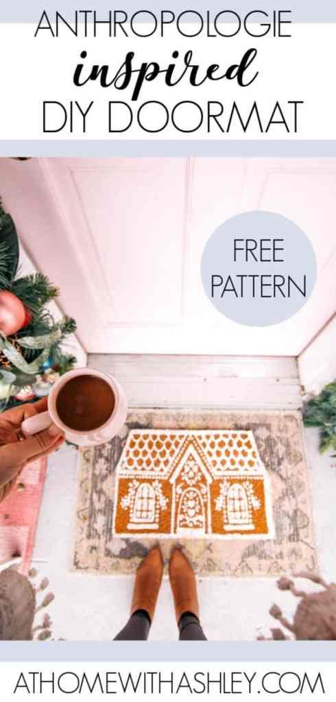 Diy Anthopologie Inspired Gingerbread House Doormat At