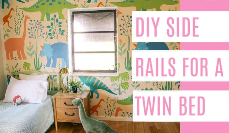 DIY Side Rails for Twin Bed