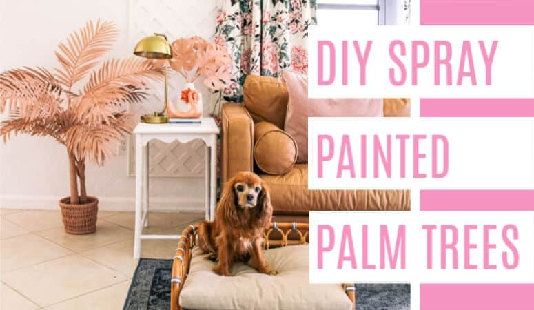 DIY Spray Painted Pink Palm Trees