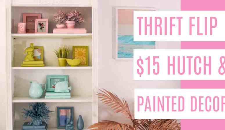 Upcycled furniture ideas $15 Thrift Store Hutch
