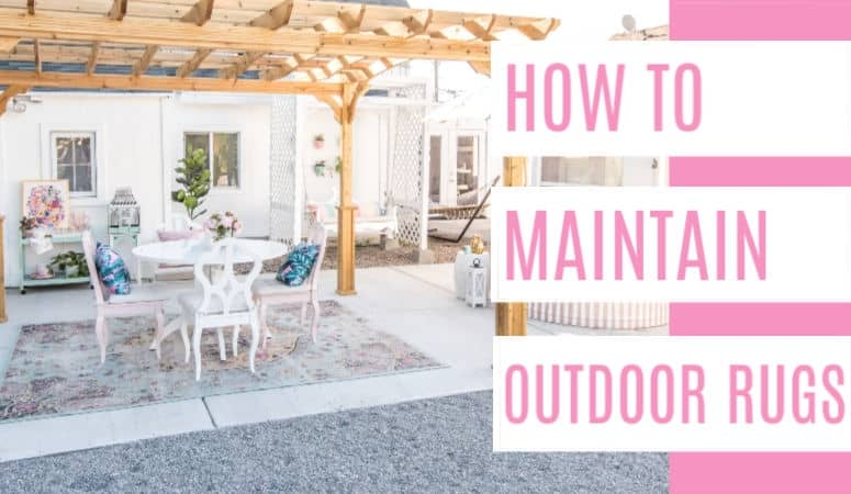 How to Clean an Outdoor Rug + Round up