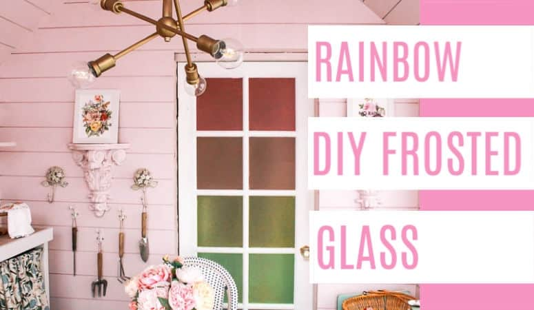 Rainbow DIY Frosted Glass