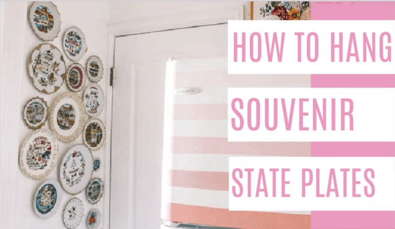 How to Hang State Souvenir Plates