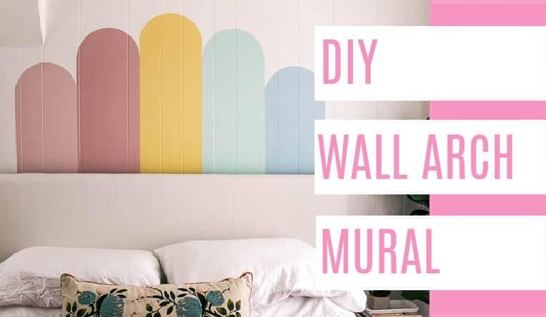 DIY Arch Wall Mural
