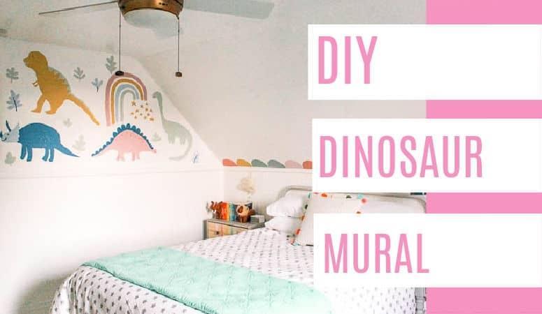 DIY Dinosaur Mural