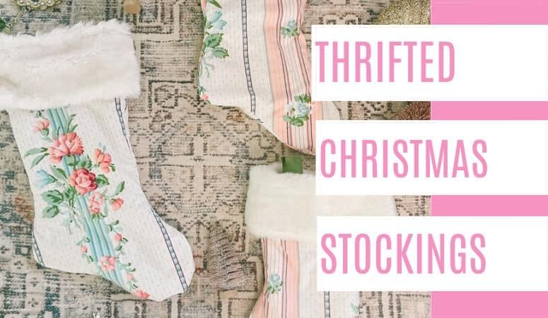 DIY Thrift Store Christmas Stockings