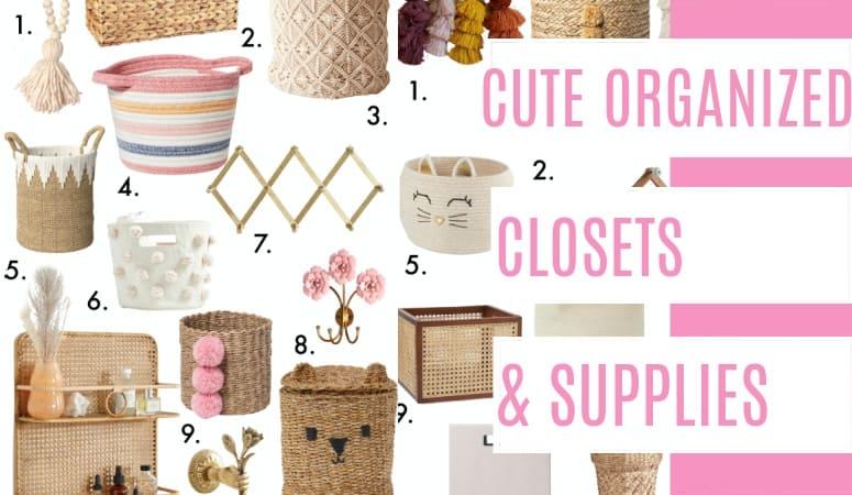Cute Organized Closets and Supplies