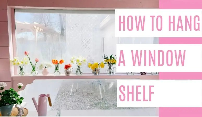 How to Hang a Shelf in Front of Windows
