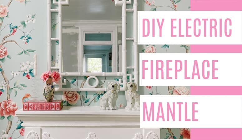 DIY Electric Fireplace Mantle