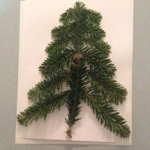 Homemade Christmas Tree Art