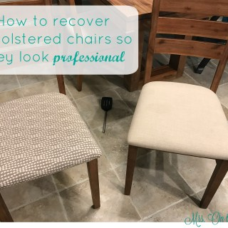 How to recover upholstered chairs