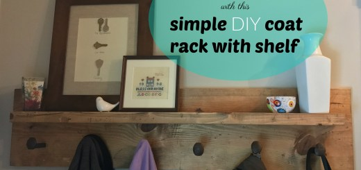 Turn dead space into functional space with this simple DIY coat rack with shelf and railsorad spikes
