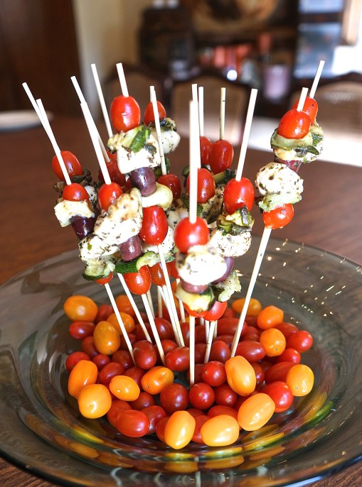 Caprese Veggie Skewers (Apps & Alcohol Party)