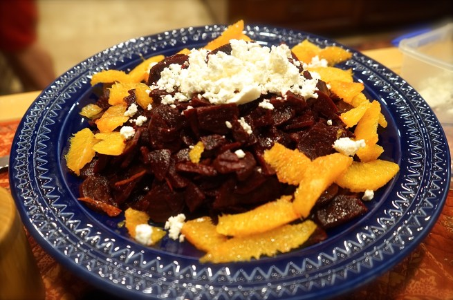 Beet Salad with Oranges & Feta (Moroccan Feast)