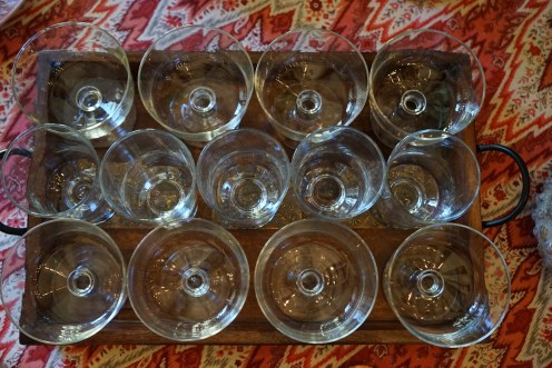 Clear compote dishes from Libbey Glass.