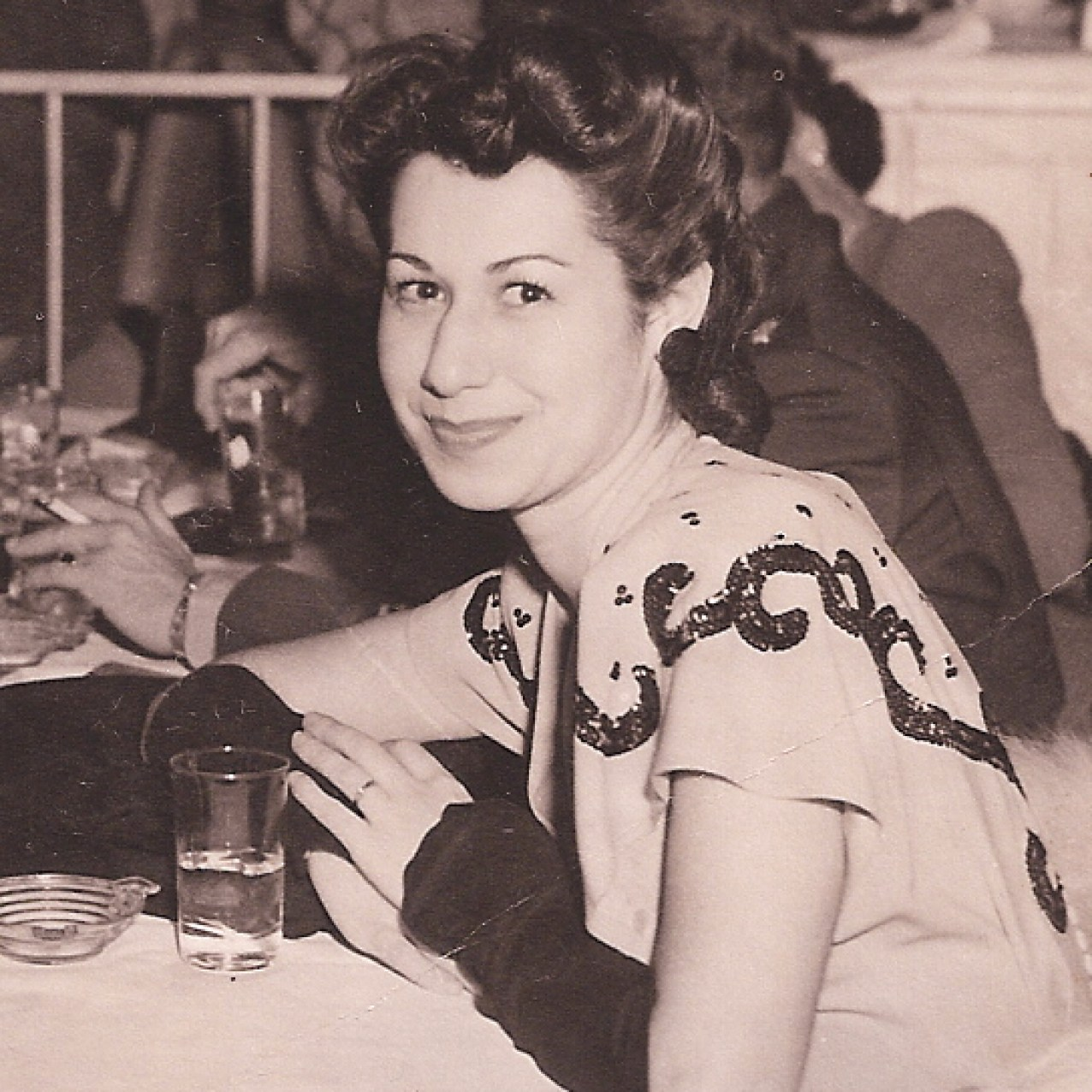 Mom at the Coconut Grove in Los Angeles, in the early 1940s.