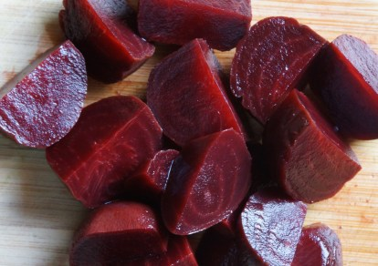 Roasted Beets (as part of Roasted Vegetable Salad).