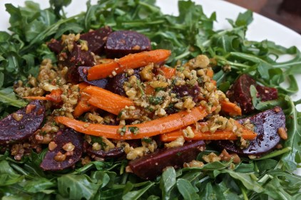 Spicy Walnut, Beet & Carrot Salad