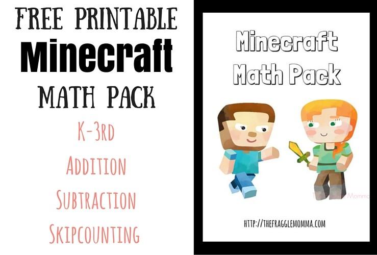 Free Minecraft Math Pack