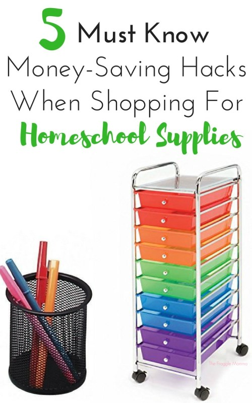 These money saving hacks for back to school shopping are great. I didn't even think about the last one and that is a GREAT idea! The organization ideas and the shopping tips are great, I am kind of looking forward to this year without feeling as overwhelmed as I thought I would my first year of homeschooling. Homeschool School Supplies, prepare to be organized!!