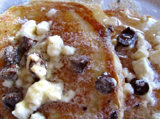 Chocolate Chip Pancakes Brown Butter and Feta