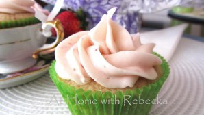 Fresh Strawberry Cupcakes with Cream Cheese Frosting