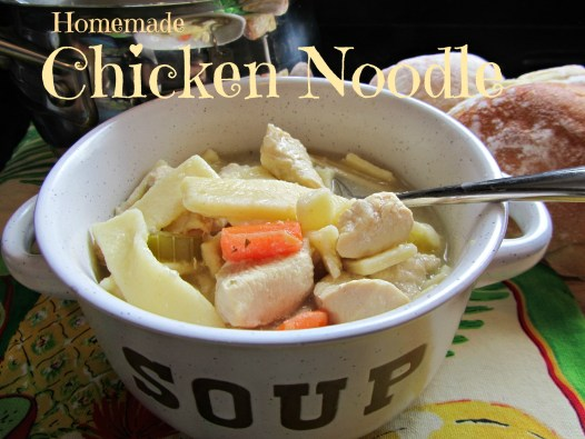 Homemade Chicken Noodle Soup with Semolina Egg Noodles