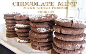 Chocolate Mint Cookies – Make Ahead Freezer Cookies {Creative Cookie Exchange}