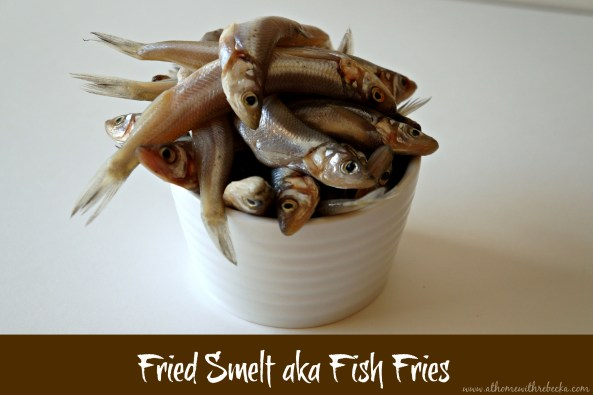 Raw Smelt fish