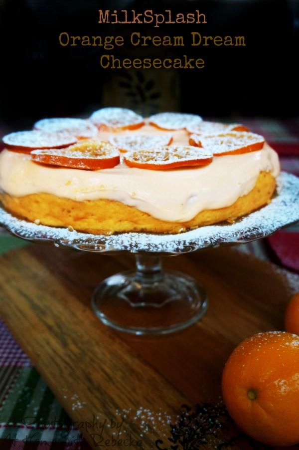 Orange Cream Cheesecake made with MilkSplash Flavoring
