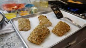 Pumpkin Seed Crusted Mahi Mahi