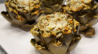Italian stuffed artichokes! This was my favorite dish!