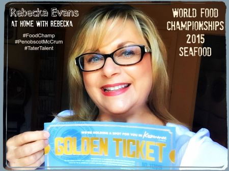 Celebrating with My Golden Ticket to World Food Championships 2015 #TaterTalent #FoodChamp