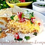 Campground Skillet Mexican Lasagna with Creamy Salsa