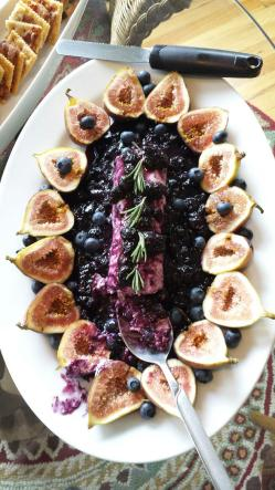 Blueberry Compote Goat Cheese