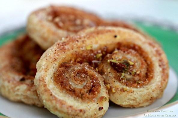 Easy French Pumpkin Pistachio Palmier Cookies