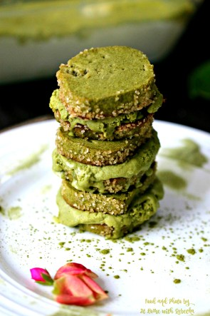 Matcha Mascarpone Ice Cream Sandwiches
