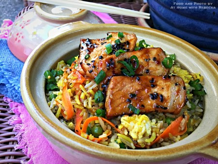 Fried Rice with Black Sesame Pork