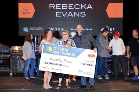 2017 Bacon World Champion Rebecka Evans