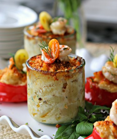 Country Crab Mac and Cheese with Butter Poached Bay Shrimp