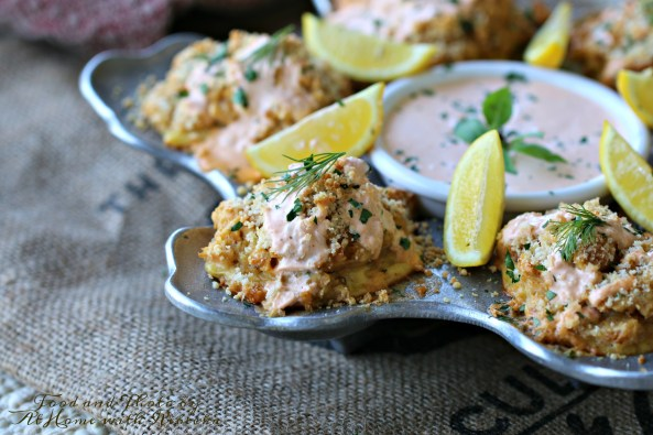 Salmon Puffs on the Stella Tray