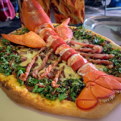 Lobster Bacon Tomato Pizza
